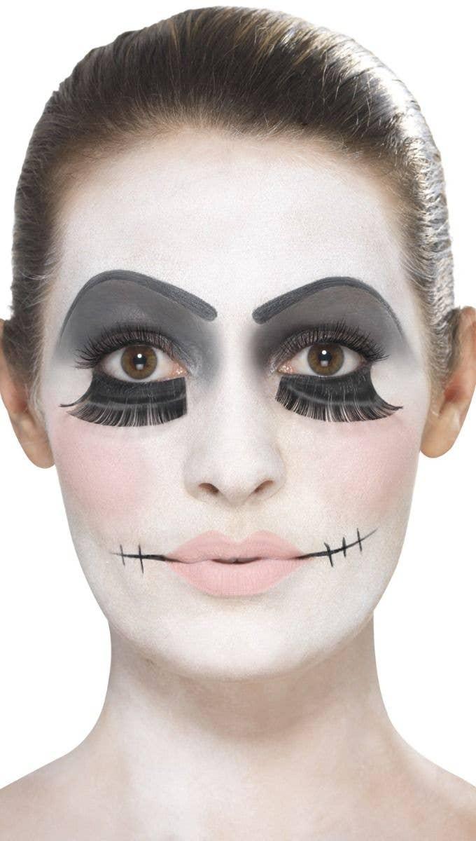 Women's Damaged Broken Doll Halloween Makeup And Tattoo Accessory Kit Image Alternate Step 3
