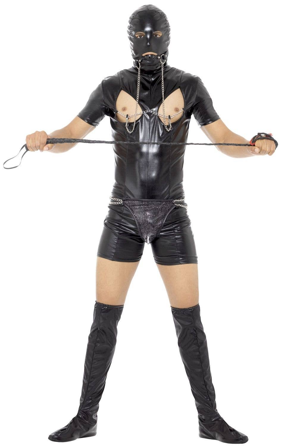 bondage gimp men's costume | stag party funny gimp bondage costume