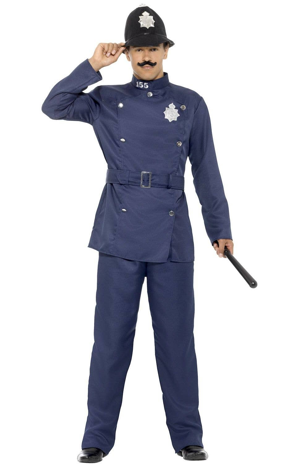 ea280c2884 London Bobby Police Officer Blue Fancy Dress Costume Front View