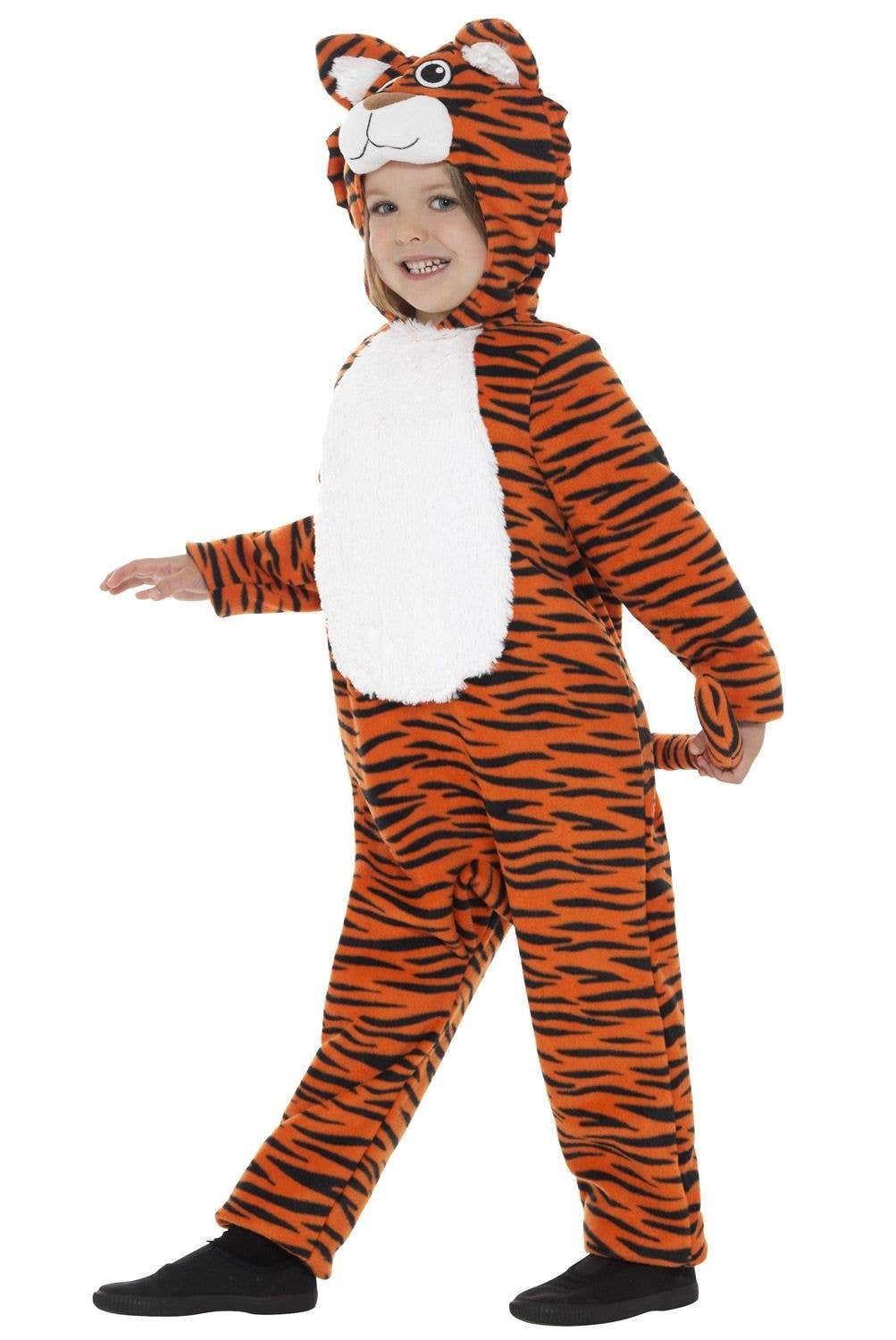 efcc798eb81e Kid s Tiger Safari Animal Onesie Book Week Costume Front Alt View