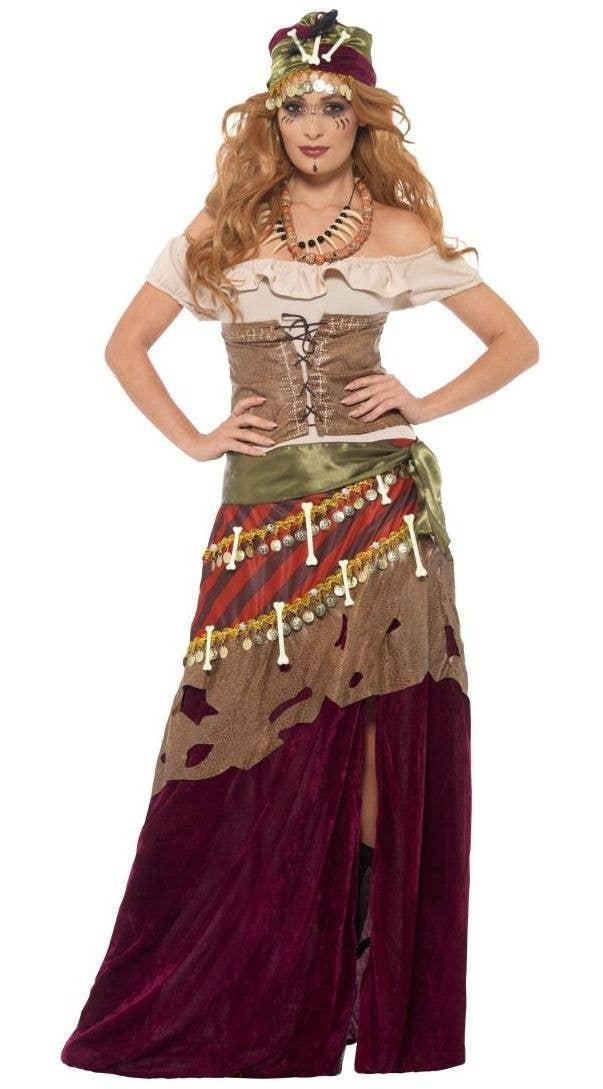 Deluxe Voodoo Priestess Fortune Teller Halloween Costume   Main