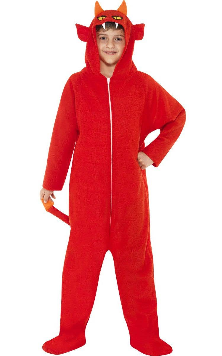 8e33429f06ee Boy s Devil Red Onesie Costume Front View