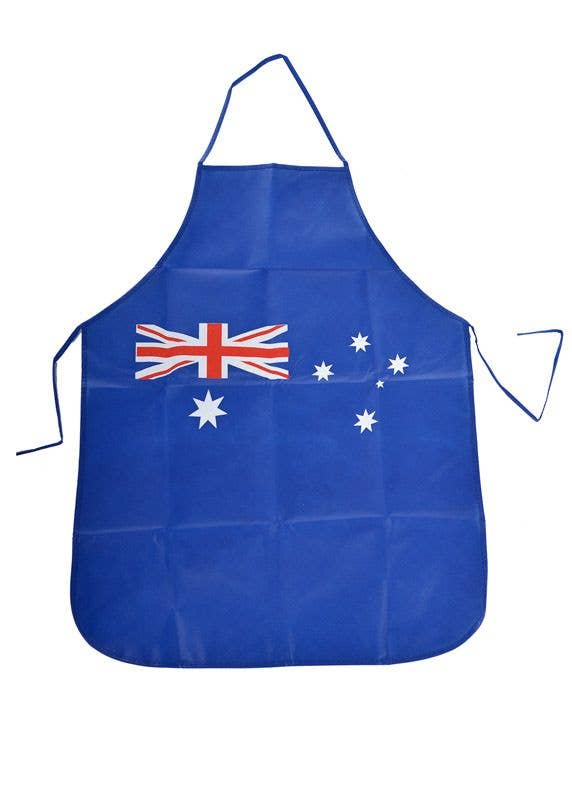 Australia Day Apron For Adults Blue Australian Flag Bbq