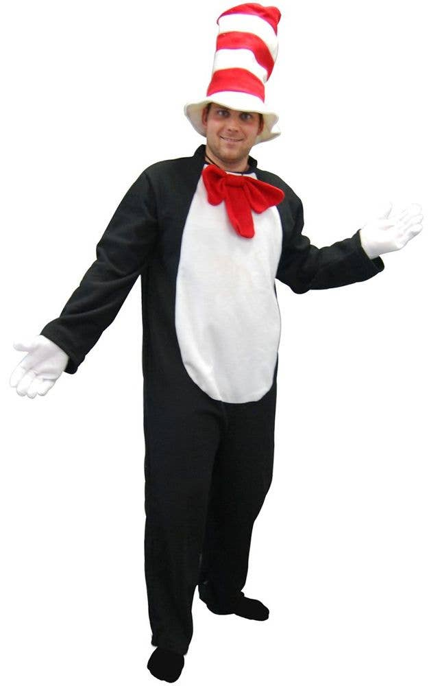 Adults Cat In The Hat Costume Dr Seuss Book Week Costume