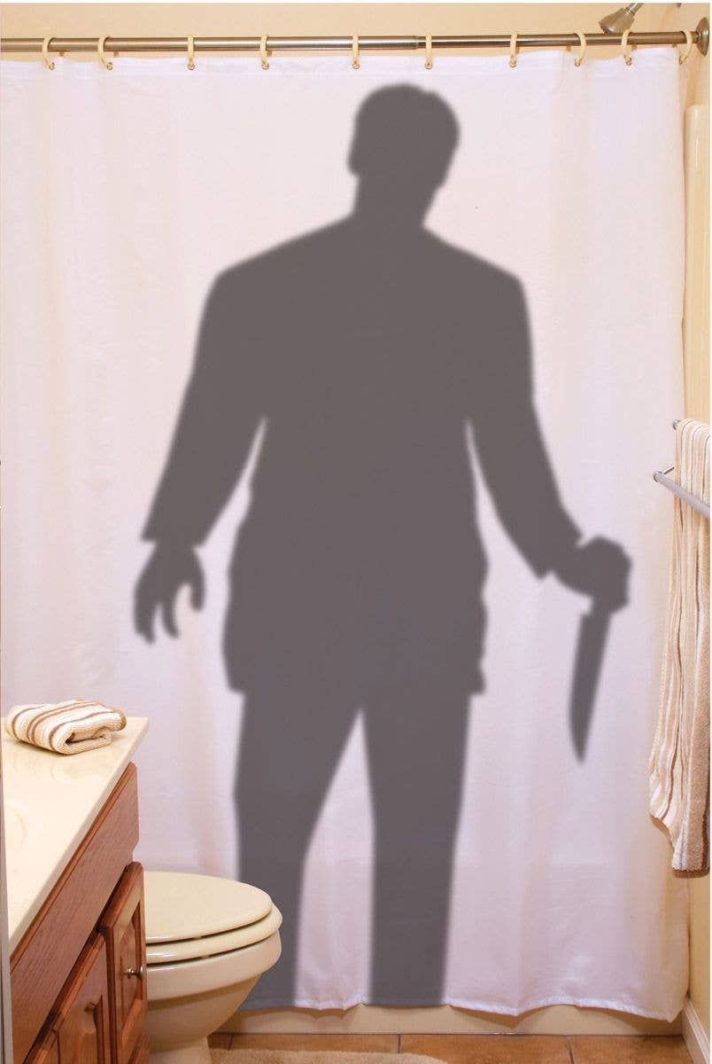 Stalker With A Knife Halloween Shower Curtain Prop