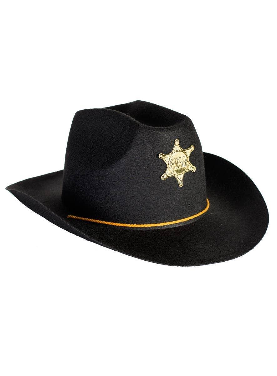 227ed7ae Cowboy Sheriff Black and Gold Costume Hat