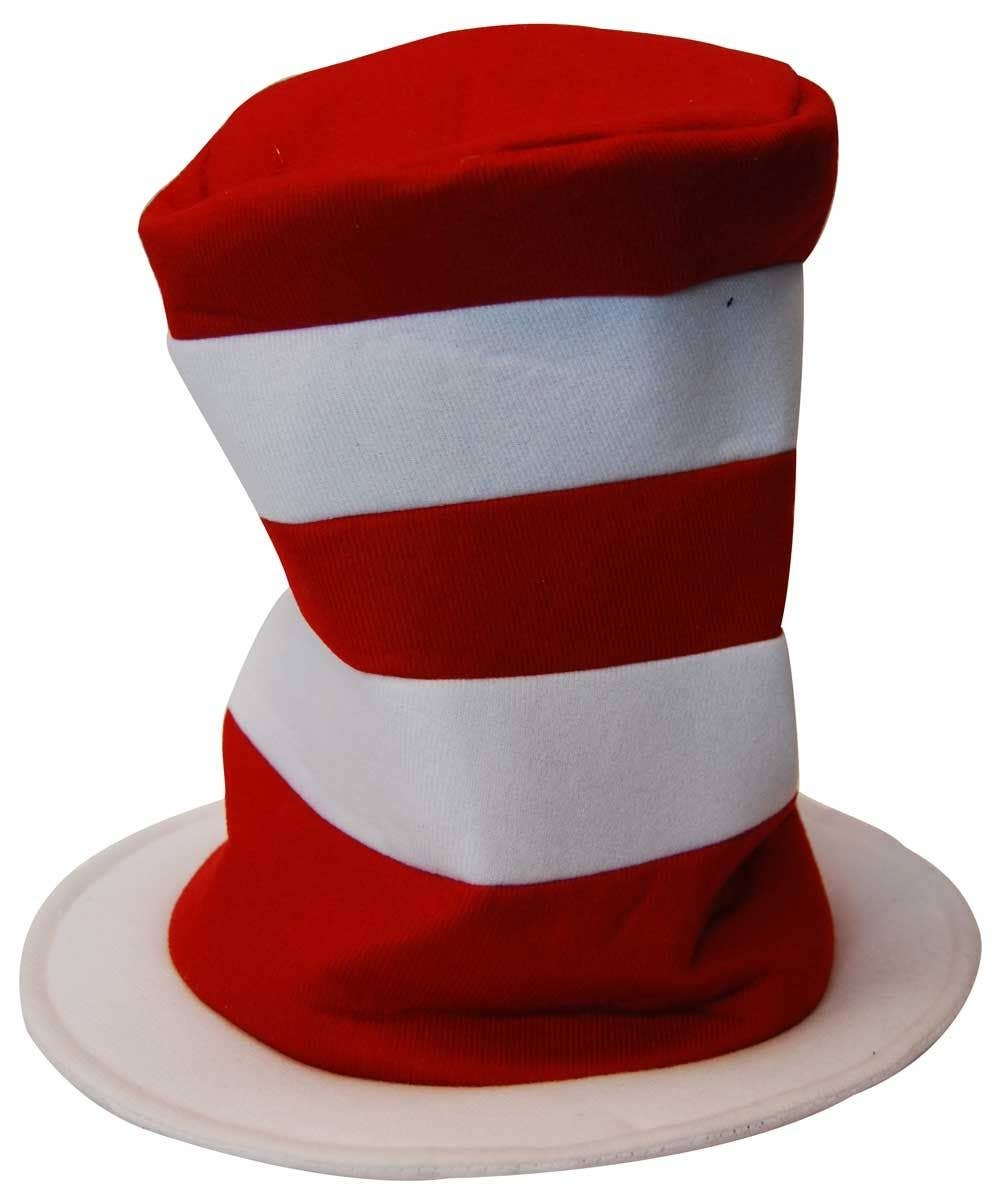 9851d579 Red and White Cat in the Hat Hat | Cat In The Hat Striped Costume Hat