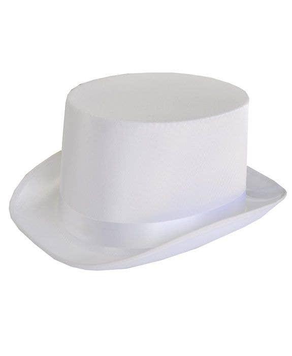 Satin White Top Hat Costume Accessory 443c94f00cf4