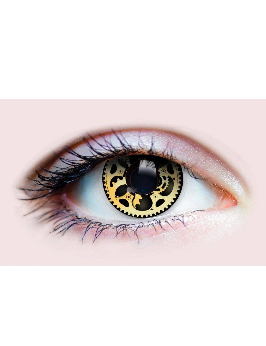 c9bfac93e5f Steampunk Cogs 90 Day Wear Halloween Contact Lenses