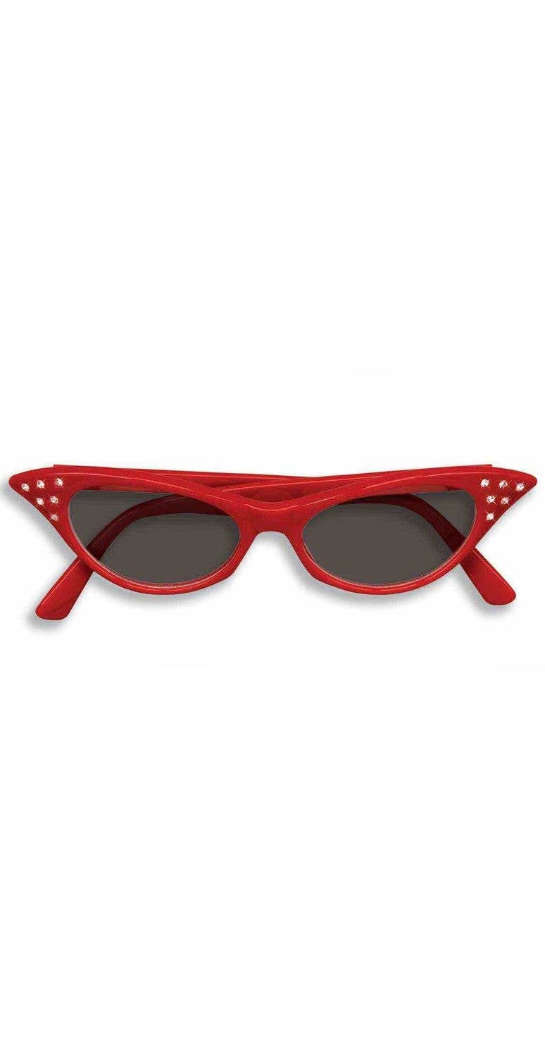 6debdf1041 More Views of Black Lens Red 1950 s Glasses. red women s black lenses  diamante dame edna costume sunglasses accessories main image