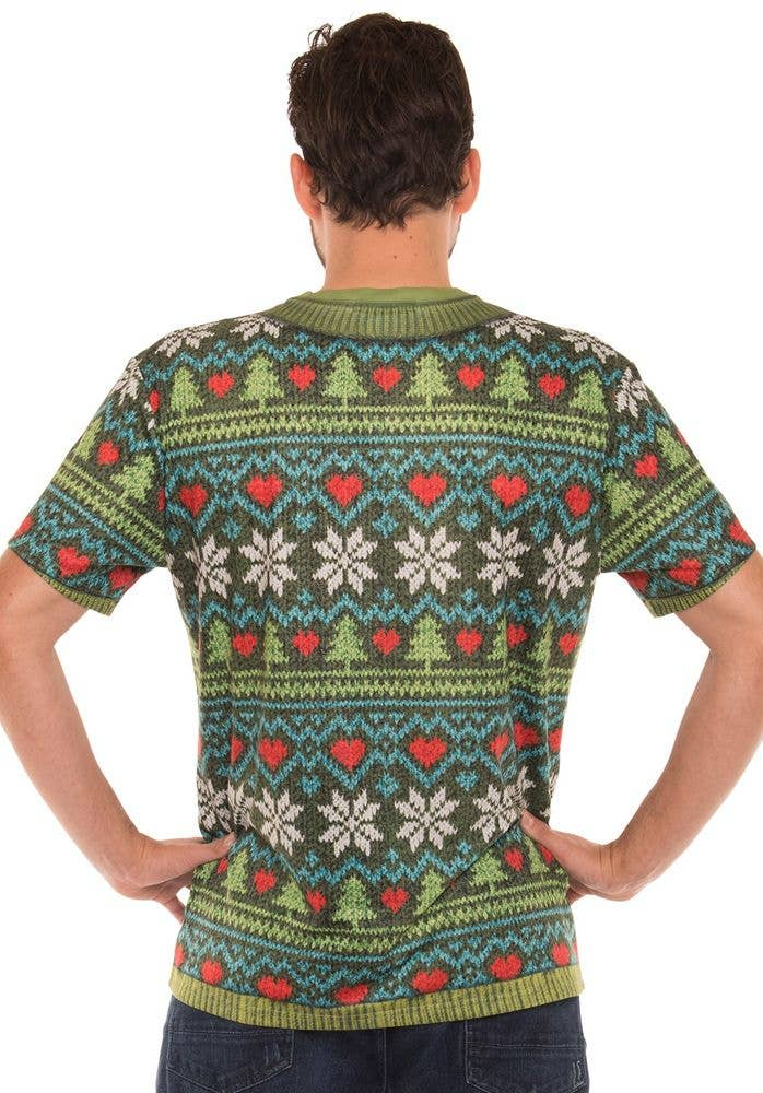 Funny Deep V Christmas Sweater Faux Real Costume Top
