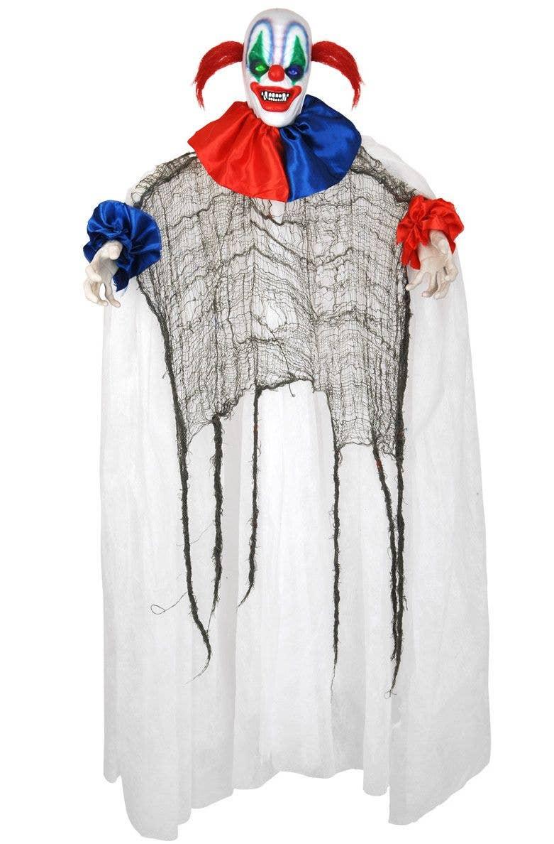 Creepy Clown Halloween Decorations.Popov The Spinning Clown Animated Halloween Decoration