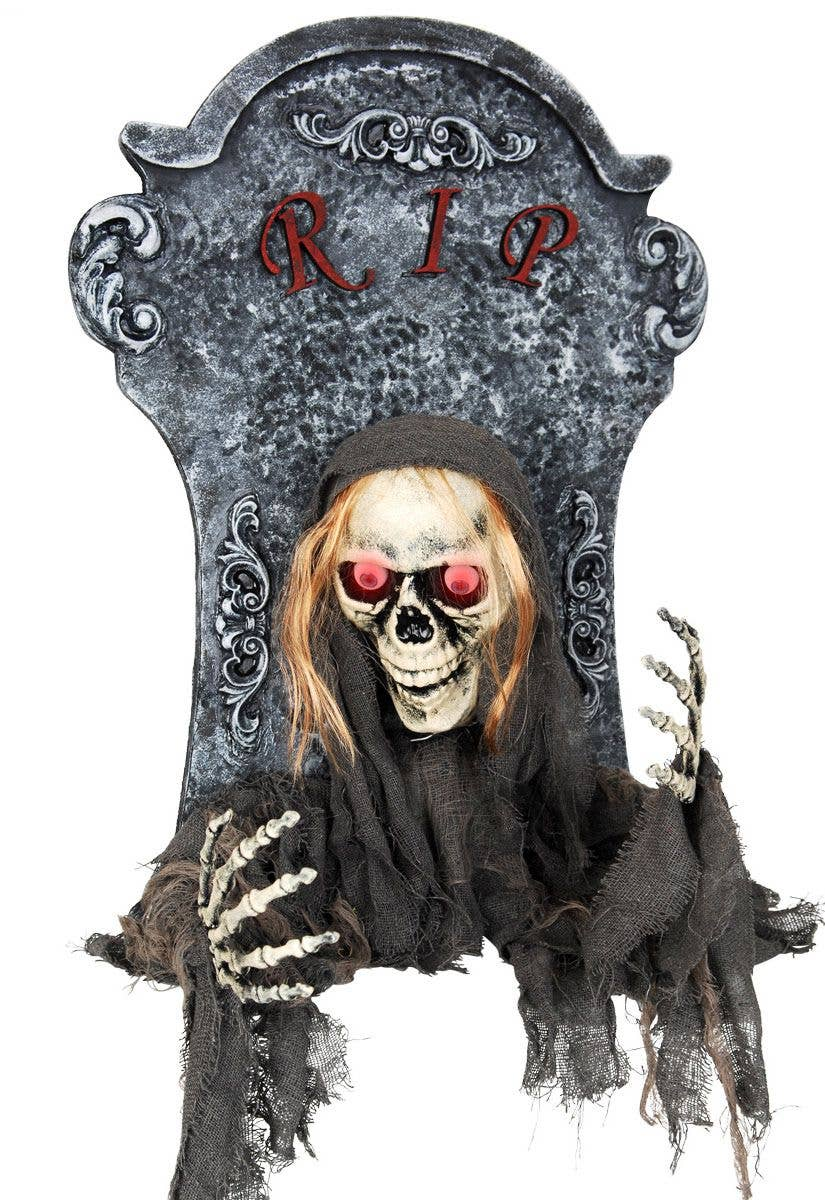 animated tombstone decoration | gravestone light up halloween prop