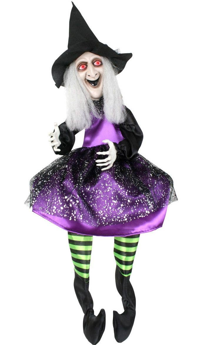 moving halloween witch decoration | haunted house witch prop