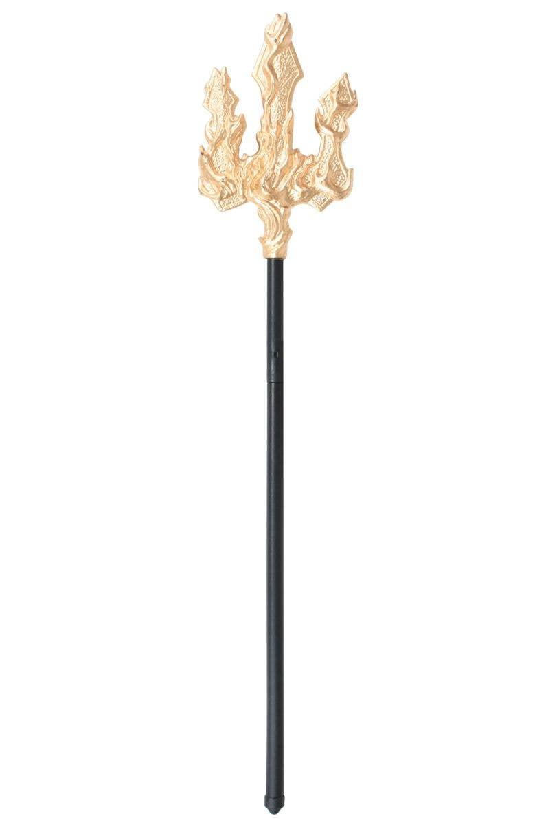 novelty neptune costume trident   gold greek god costume trident
