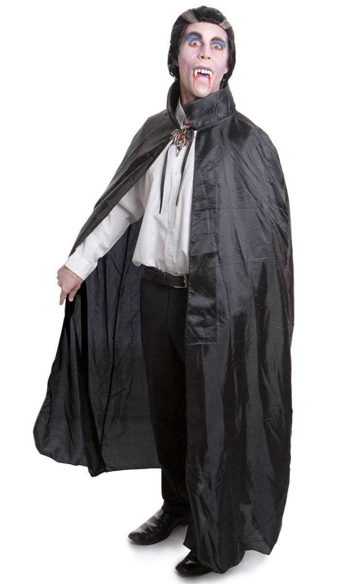Adult s Black Vampire Halloween Cape with Collar ba2e61c0afd27