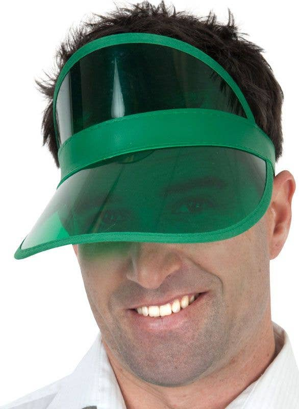 Green poker visor hat