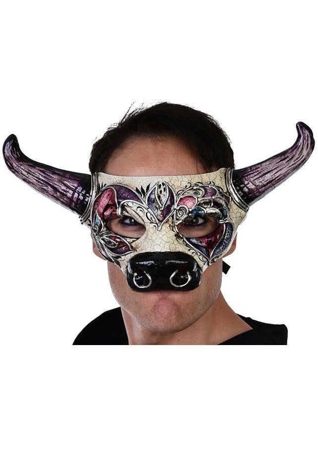 Venetian Devil Mens Adult Masquerade Ball Costume Plastic Mask