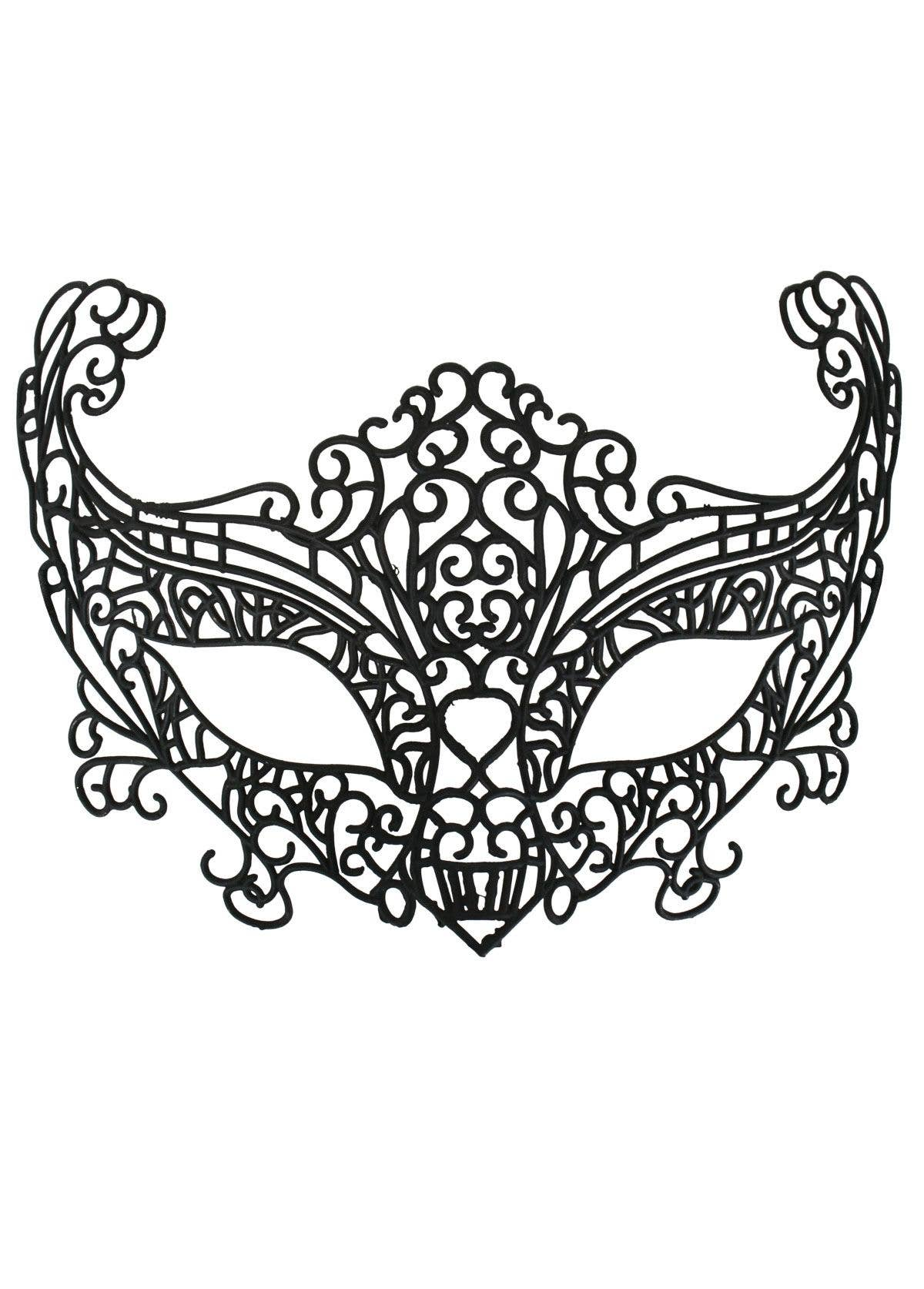 Lace Cut Out Black Plastic Masquerade Mask For Women