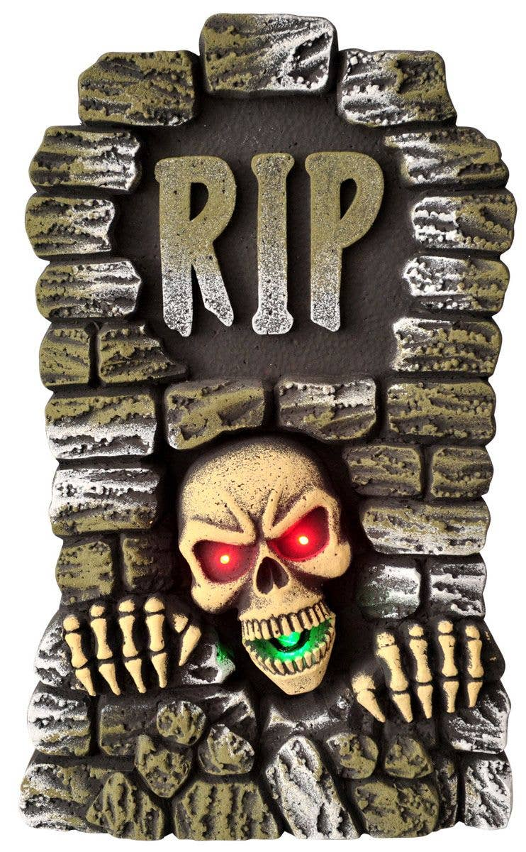 rip gravestone animated decoration | light up halloween tombstone