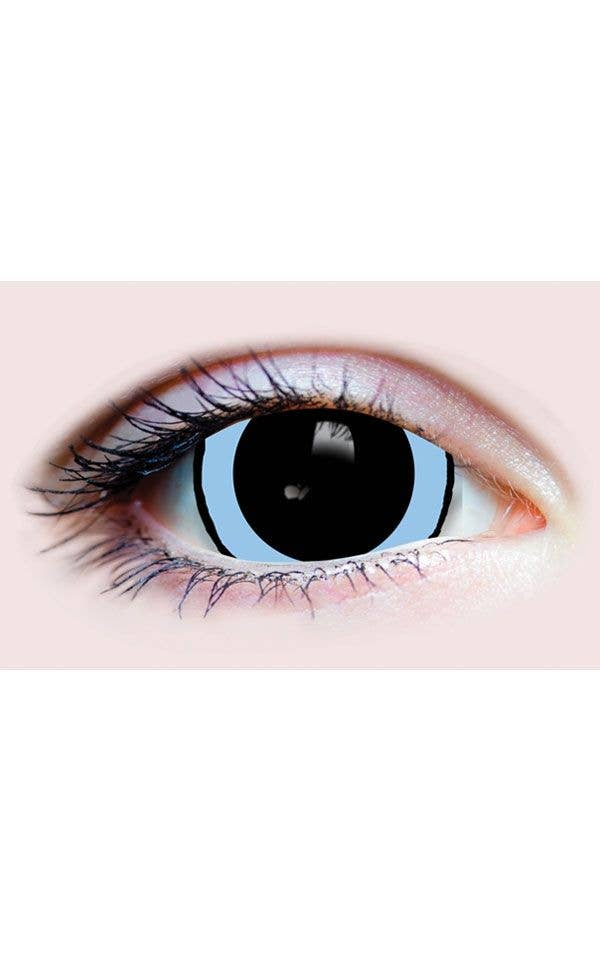 1c2f8591e87 Dilated Pupil Acid Trip Black And Blue Primal Contact Lenses