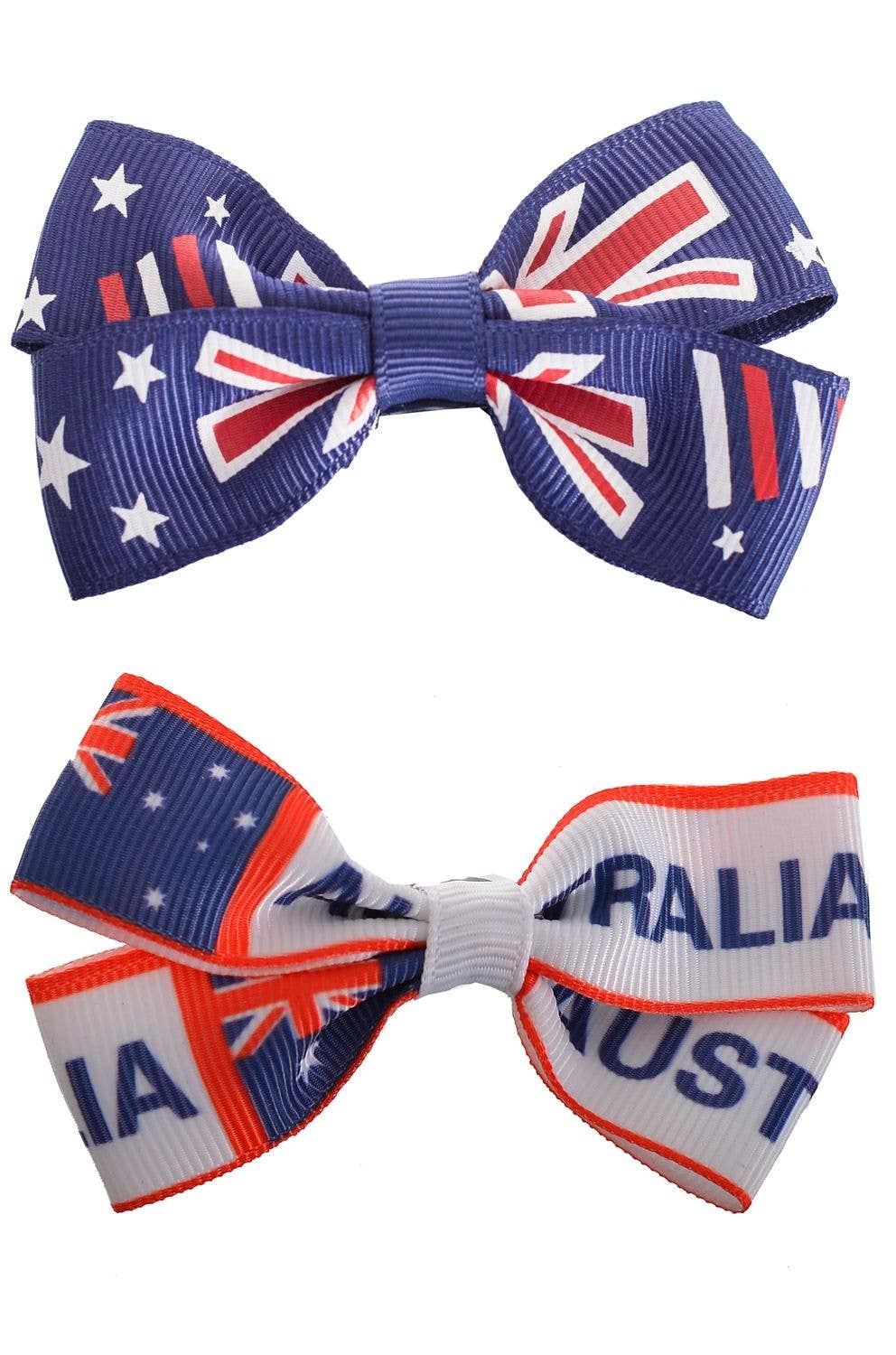 fe4e7cf08b Blue And White Aussie Day Hair Bows