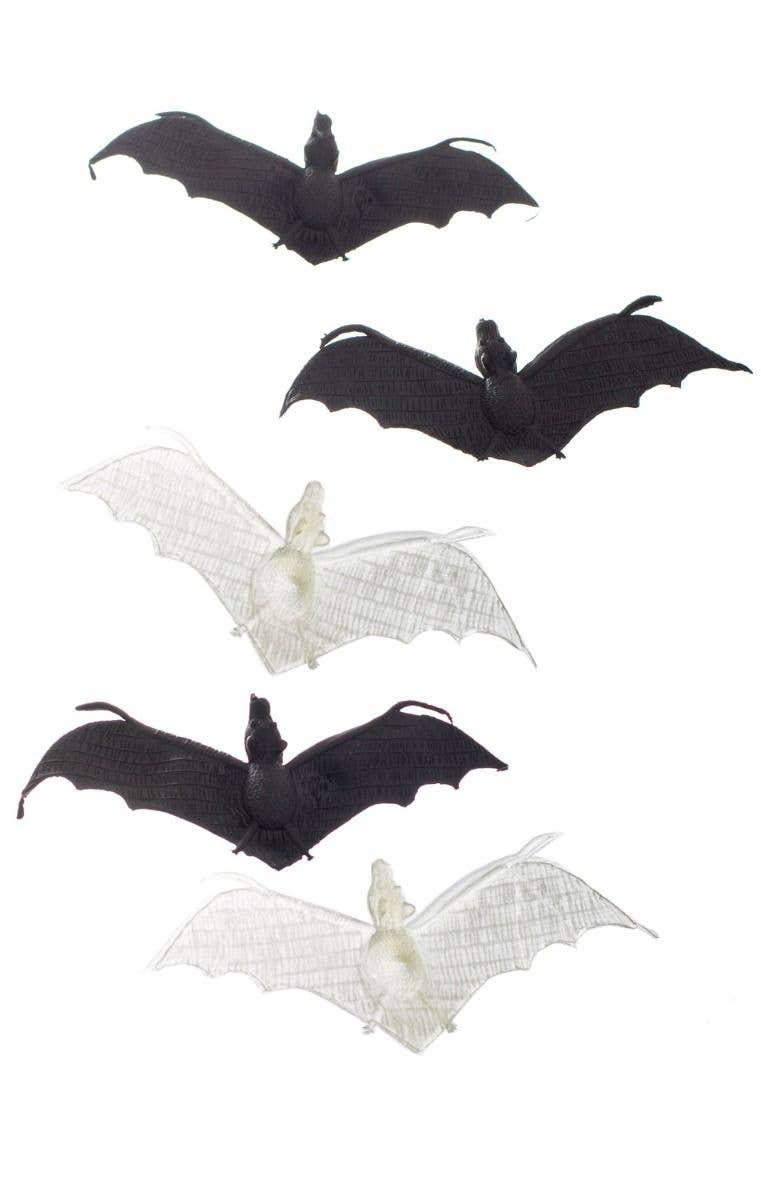 Mini 5 Pack Bat Party Props Plastic Bat Halloween Props