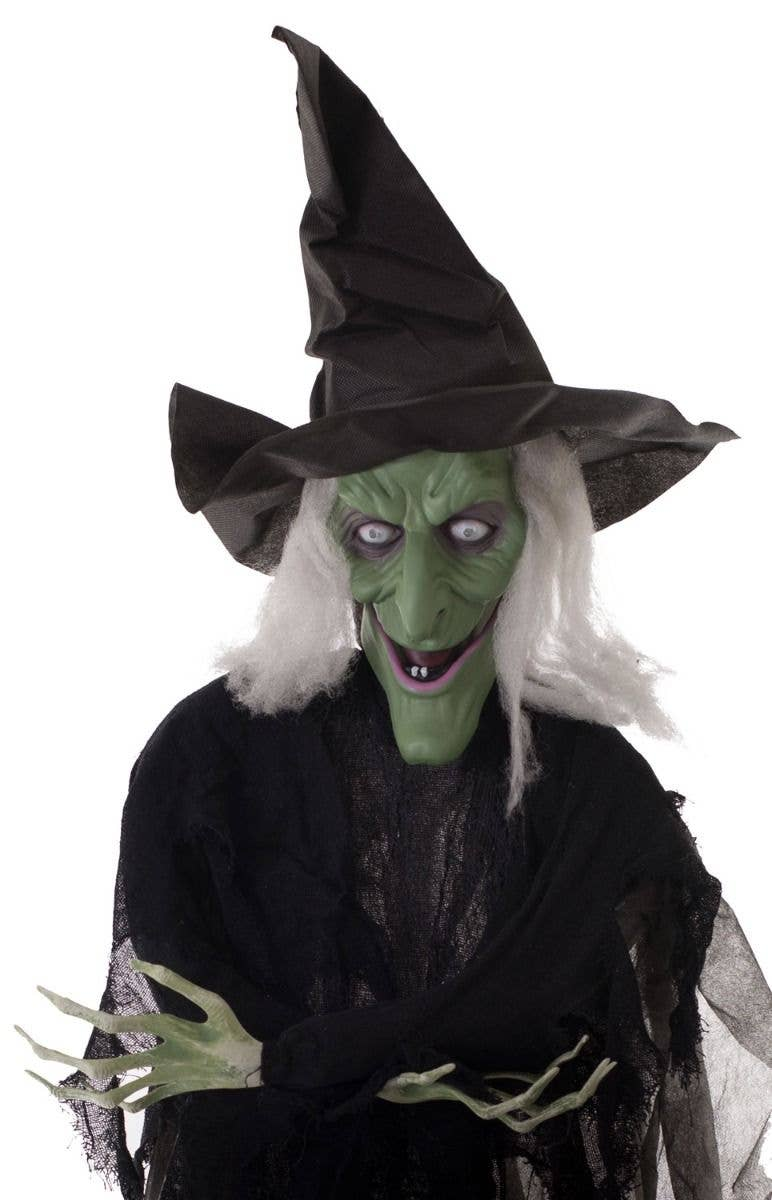 Halloween Hanging Witch Decoration | Wicked Witch Talking Prop