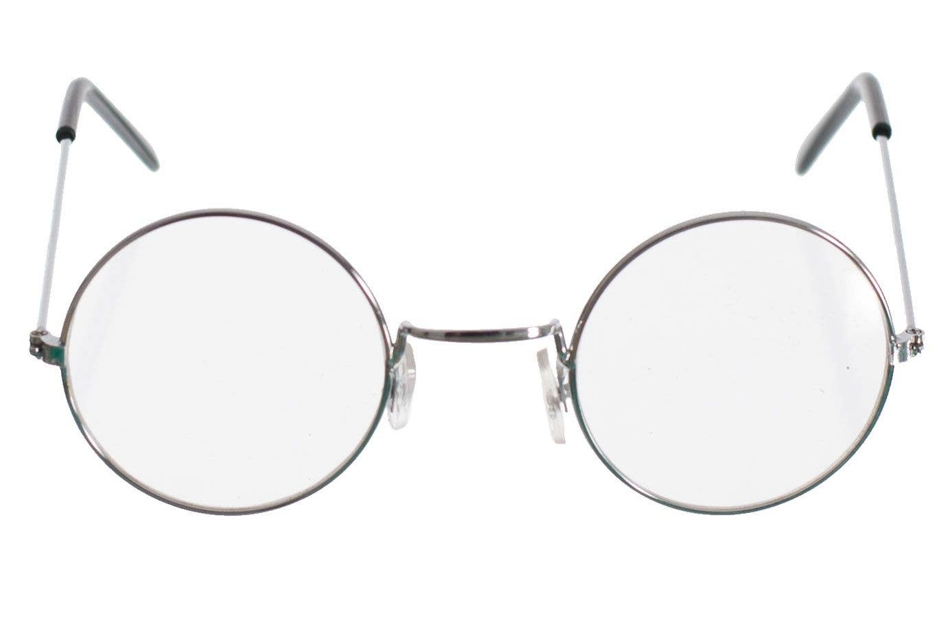 336bbfe4d5d More Views of Clear Round Silver Frame Glasses