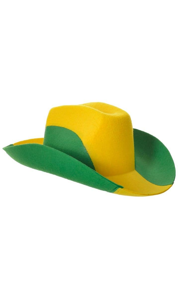 d3cacc0f1 Green and Gold Australia Cowboy Outback Costume Hat