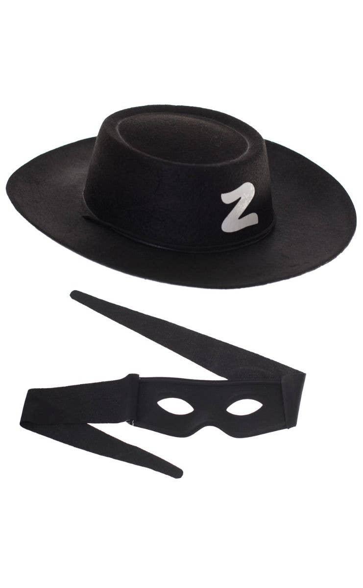 08353f8d192e Kids Zorro Black Hat and Mask Costume Accessory Set Main Image