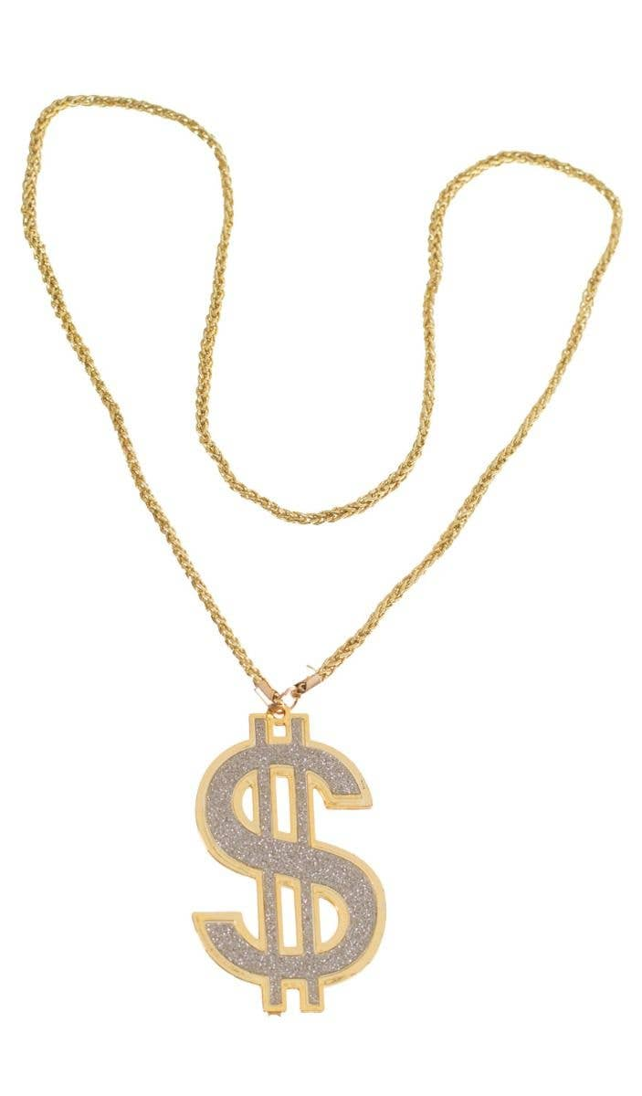 Fake Gold Dollar Sign Bling Gangster Pimp Costume Necklace Costume Jewellery  Main Image f0c1df00a6