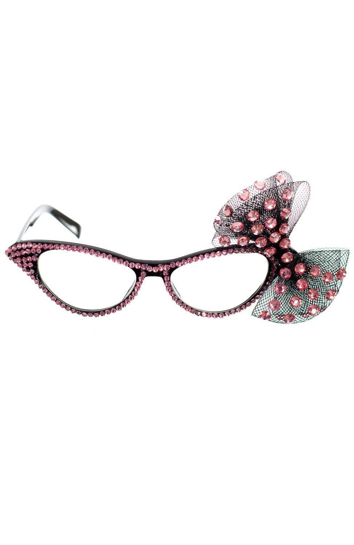 da72aefec8 More Views of Adult s Pink Rhinestone Bow Glasses