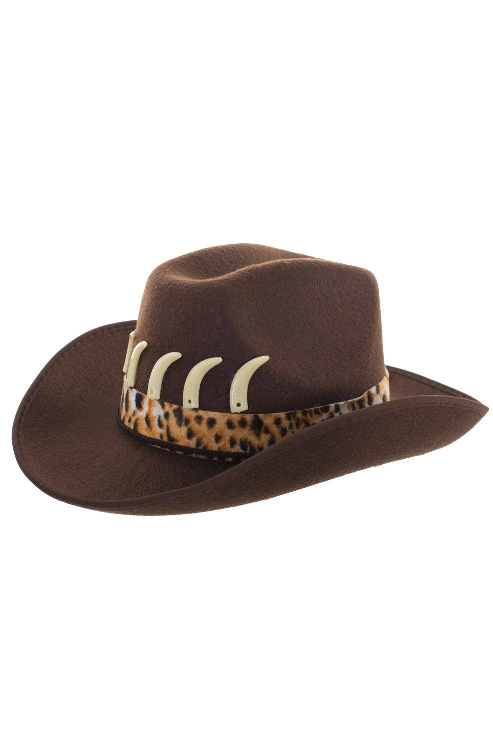 32225a8469e Adult s Brown Crocodile Dundee Outback Hunter Hat View 2