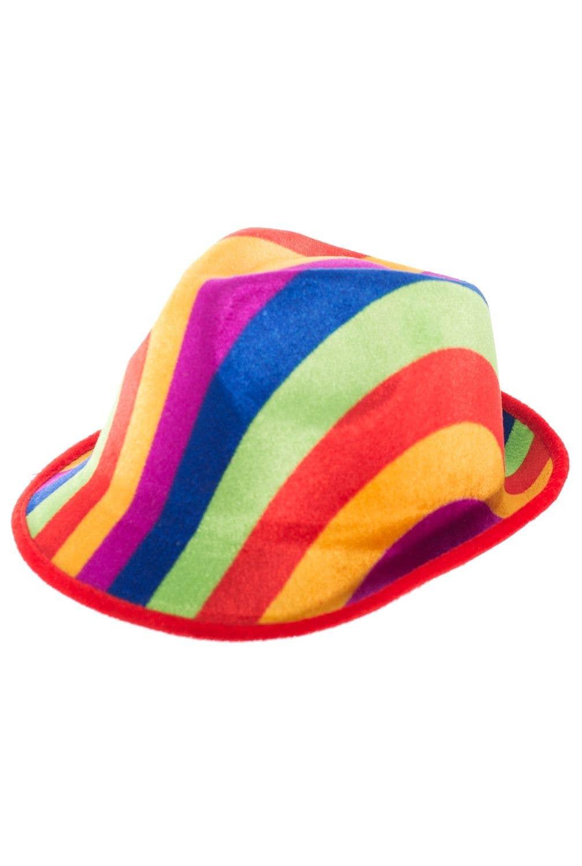 f30eb3810ecd73 Colourful Fedora Style Rainbow Hat Costume Accessory Main Image