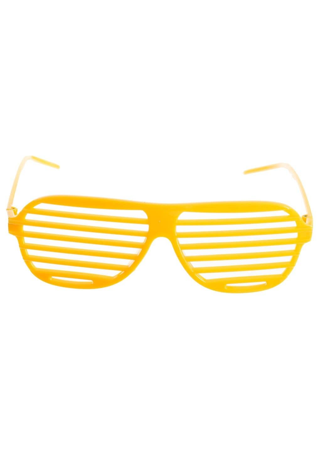 b2f44ea157a4 80's Yellow Shutter Shades | Yellow Shutter Novelty Glasses