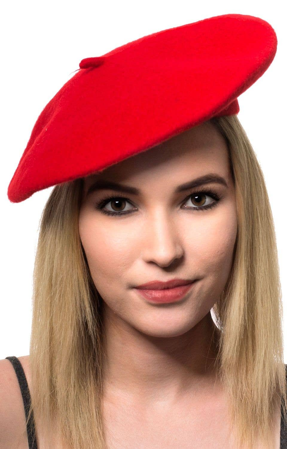 Adult s Red French Costume Beret Accessory Main Image 3301dbeaa00