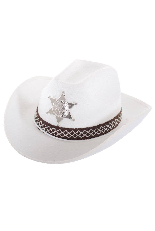 Feltex White Deputy Sheriff Cowboy Hat Costume Accessory 1bb9828ab19e
