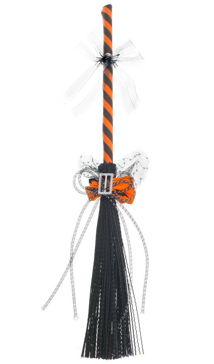 Orange And Black Mini Broomstick Magic Halloween Witch