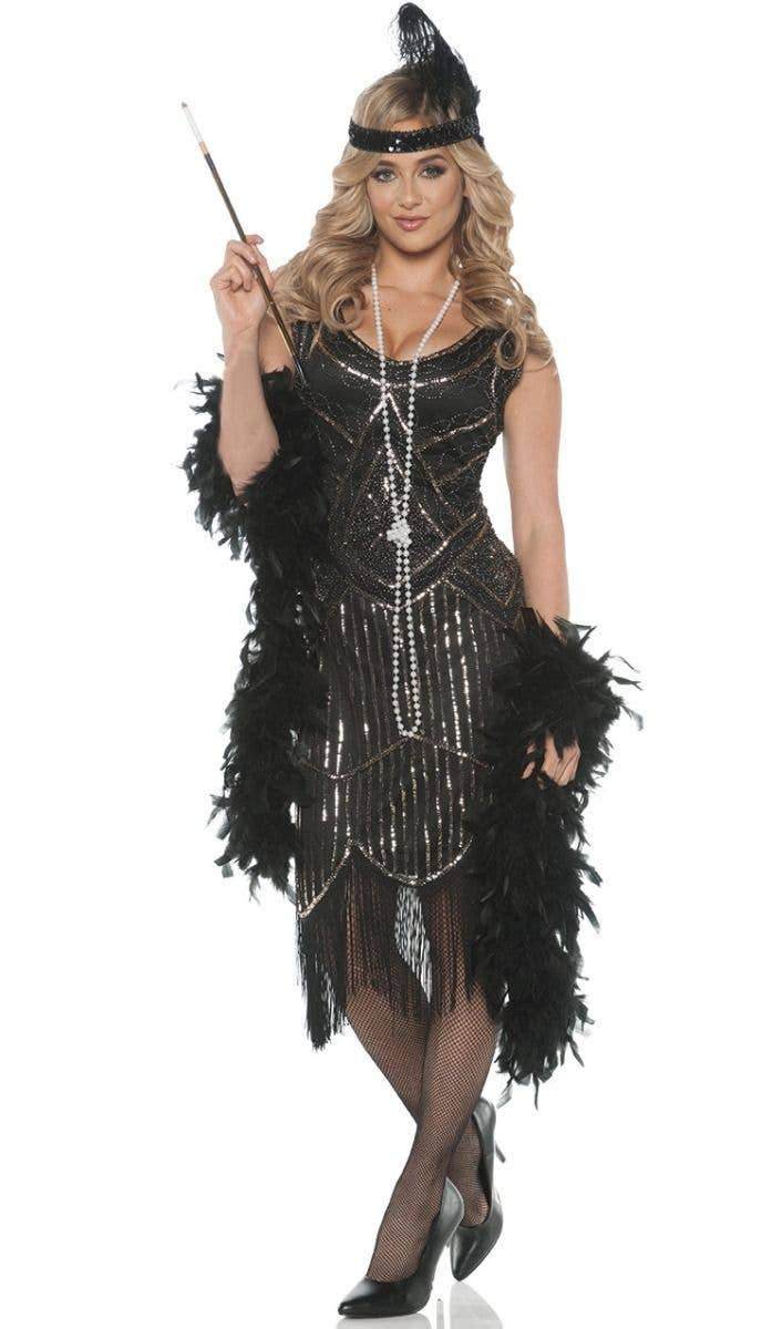 12cf1d183e More Views of 1920 s Womens Flapper Dress Costume