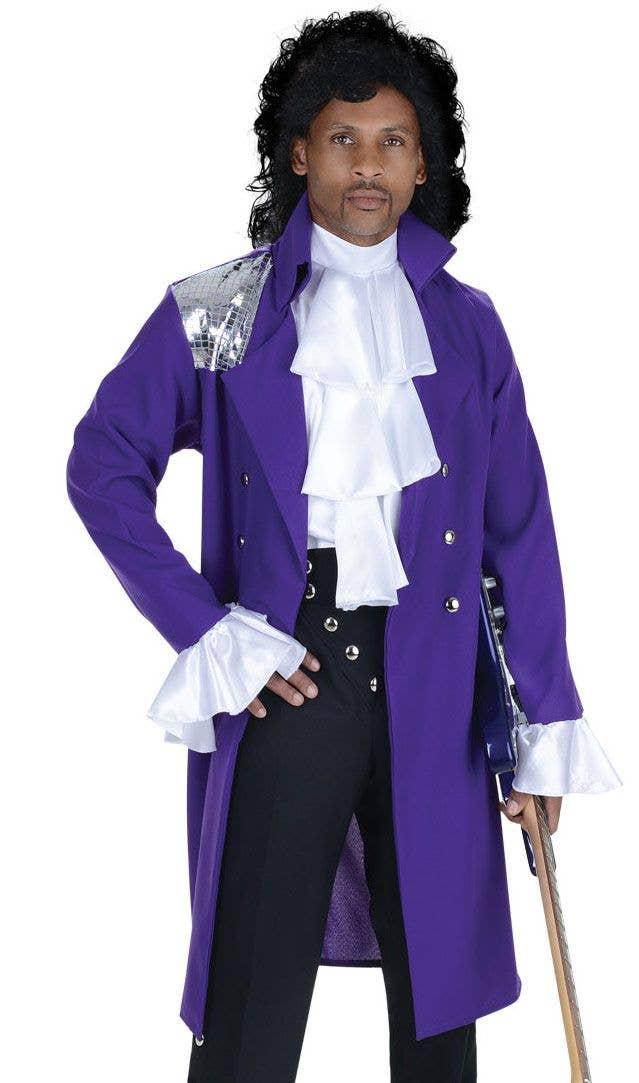 f5a3319bad3698 Men's Pop Star Purple Coat Costume | Prince Style Dress up Costume