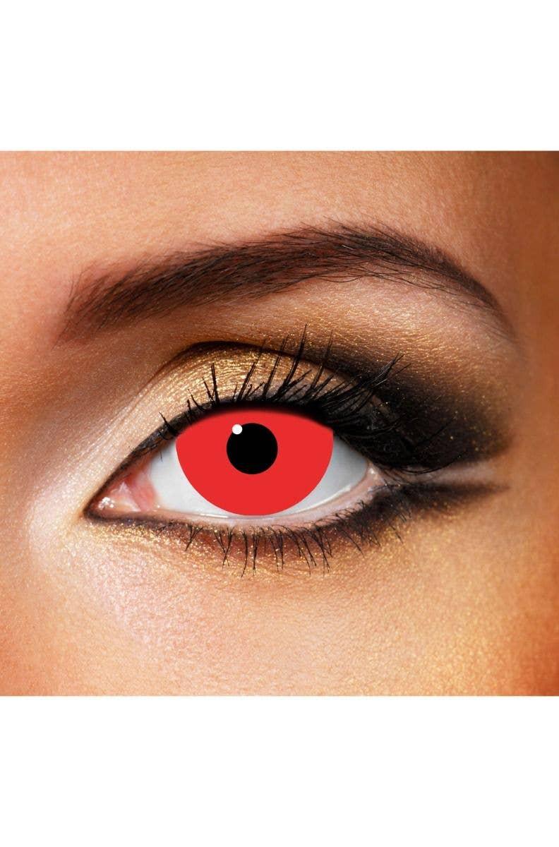 8b933f40cc4 Halloween Red Mini Sclera Contact Lenses
