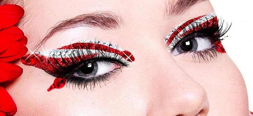 Candy Eyes Sexy Stick On Makeup Kit Red And White Stick
