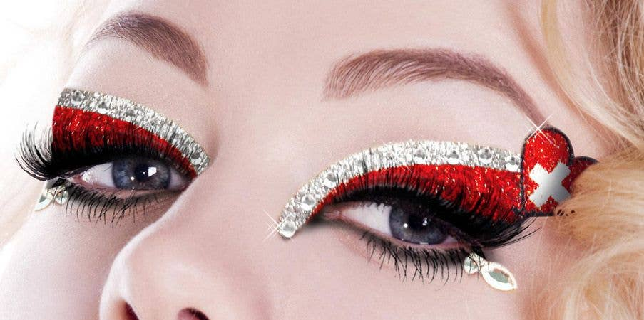 Pictures of eye makeup designs with flowers