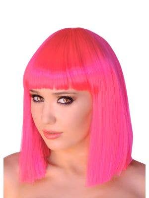 Deluxe Crystal Bob Wig in Hot Pink