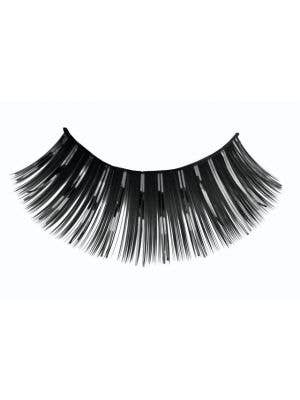 Women's Long Black Costume Eyelashes With Tinsel Highlights Main