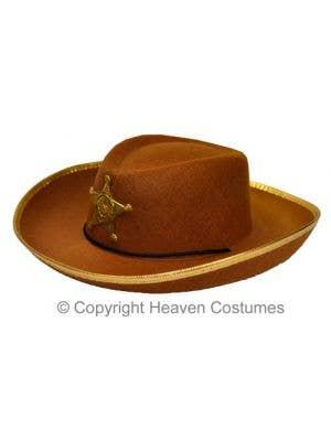Wild West Cowboy Brown Costume Hat