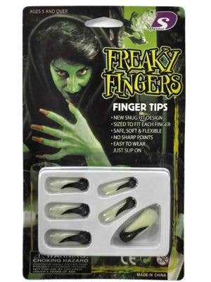 Glow In The Dark Long Witch Costume Nails