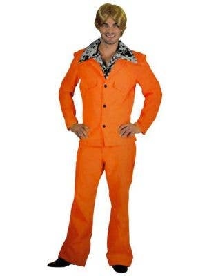 Orange Men's 1970's Anchorman Leisure Suit Costume
