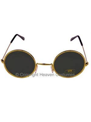 Round John Lennon Sunglasses in Black